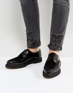 Черные кожаные туфли на шнуровке с мягкой подошвой ASOS-Черный