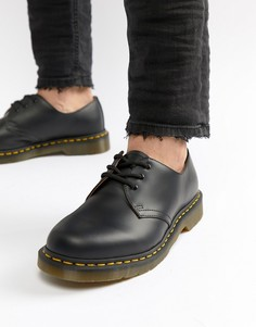 Черные туфли с 3 парами люверсов Dr Martens original 11838002-Черный