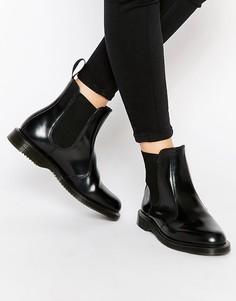 Черные ботинки челси Dr Martens Kensington Flora-Черный