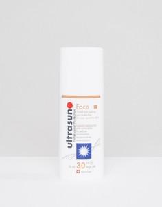Солнцезащитное средство для лица SPF 30 с антивозрастным эффектом и пигментом для очень чувствительной кожи Ultrasun – 50 мл-Коричневый