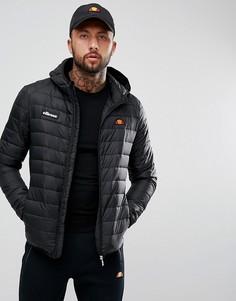 Черная дутая куртка ellesse Lombardy-Черный