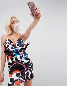 Платье-бандо мини с бантом спереди ASOS x The Emoji Movie-Мульти