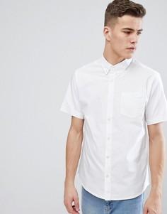 Базовая оксфордская рубашка с короткими рукавами D-Struct-Белый