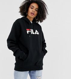 Худи бойфренда с логотипом Fila-Черный