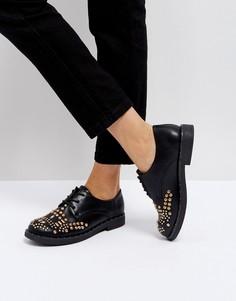 Туфли на плоской подошве с заклепками Park Lane-Черный