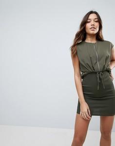 Облегающее платье мини ASOS-Зеленый