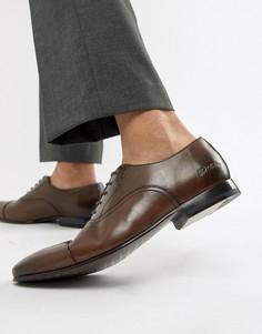 Коричневые кожаные оксфордские туфли Ted Baker Murain-Коричневый