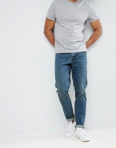 Темные джинсы слим ASOS DESIGN-Синий