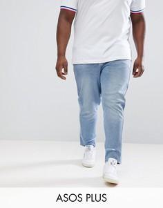 Голубые рваные джинсы скинни ASOS DESIGN Plus-Синий