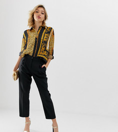 Зауженные брюки ASOS DESIGN Petite-Черный