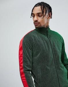 Зеленая спортивная куртка с полосами на рукавах Jaded London-Зеленый