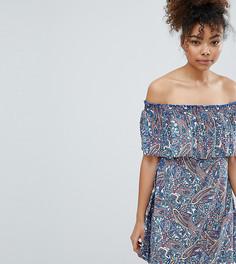 Пляжное платье с открытыми плечами и принтом пейсли Esprit-Мульти