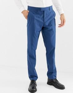 Синие зауженные брюки Farah Henderson-Синий