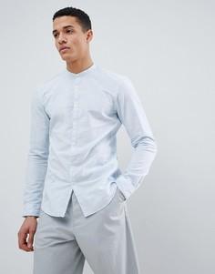 Рубашка с длинными рукавами из 100% хлопка Tom Tailor-Синий
