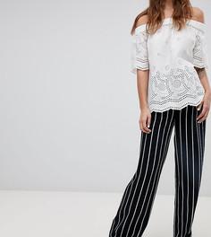 Широкие брюки в полоску Esprit-Темно-синий