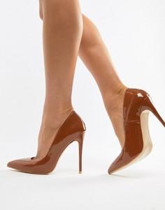 Лакированные туфли-лодочки Simmi London Imani-Коричневый