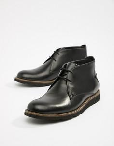 Черные кожаные ботинки со шнуровкой Original Penguin-Черный