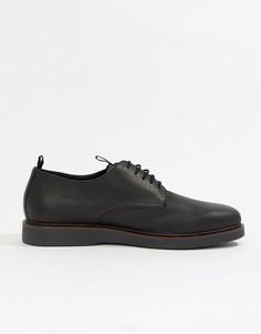 Черные кожаные туфли дерби H By Hudson-Черный