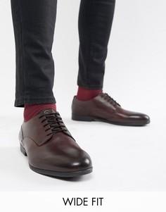 Кожаные строгие туфли для широкой стопы H By Hudson Axminster-Красный