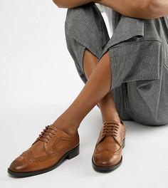 Кожаные броги ASOS DESIGN-Светло-коричневый