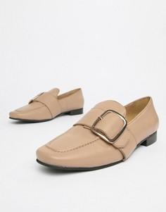 Кожаные туфли на плоской подошве Park Lane-Бежевый