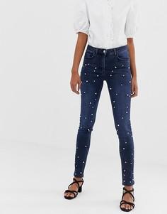 Декорированные джинсы Soaked In Luxury-Синий