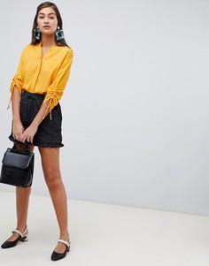 Короткие шорты со складками Soaked In Luxury-Мульти