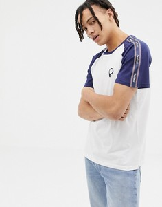 Бело-синяя футболка с рукавами реглан и отделкой фирменной лентой Penfield Kenney-Белый