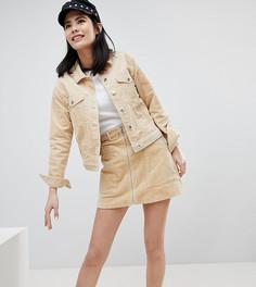 Вельветовая мини-юбка Monki-Бежевый