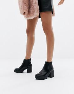 Черные ботинки на толстой подошве Public Desire Krissie-Черный