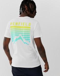 Белая футболка с принтом на спине Penfield-Белый