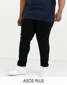 Черные джинсы скинни ASOS DESIGN Plus-Черный