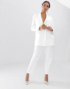 Зауженные брюки ASOS EDITION-Белый