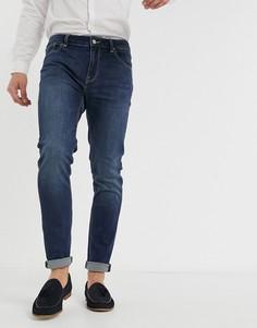 Темные джинсы скинни ASOS DESIGN-Синий