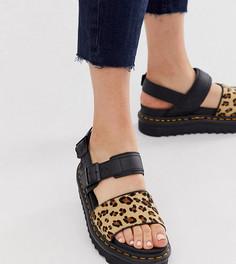 Эксклюзивные сандалии с леопардовым принтом Dr Martens x ASOS Voss-Мульти