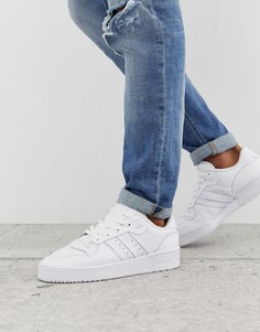 Белые низкие кроссовки adidas Originals rivalry-Белый