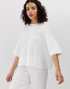Свободная белая футболка River Island-Белый