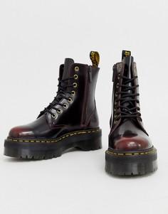 Кожаные ботинки на массивной подошве Dr Martens Jadon-Красный