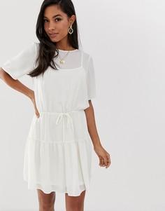 Платье мини ASOS DESIGN-Белый
