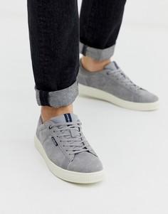 Серые замшевые кроссовки с удобной подкладкой Jack & Jones-Серебряный