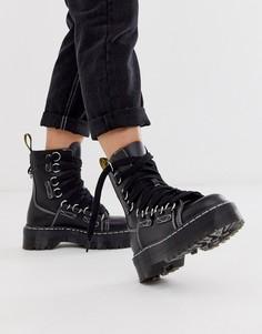 Черные кожаные ботинки на шнуровке Dr Martens Jadon-Черный