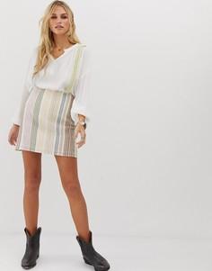 Облегающая юбка в полоску En Creme-Мульти