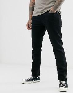 Черные джинсы слим с выбеленным эффектом Esprit-Черный