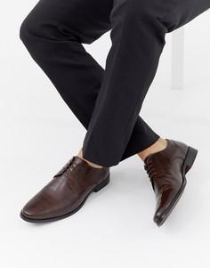 Коричневые кожаные туфли дерби ASOS DESIGN-Коричневый