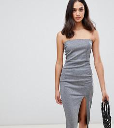 Серебристое платье-футляр Miss Selfridge-Серебряный