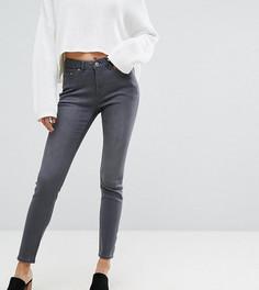 Облегающие джинсы с завышенной талией Esprit-Серый