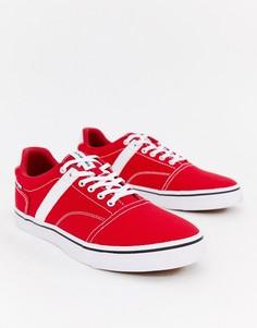 Парусиновые кроссовки с полосками по бокам Jack & Jones-Красный