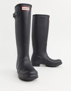 Черные высокие резиновые сапоги Hunter Original-Черный