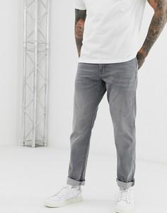 Выбеленные серые джинсы прямого кроя Esprit-Серый