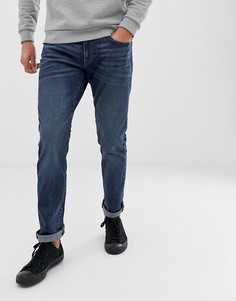 Темно-синие джинсы слим Esprit-Синий